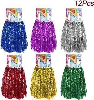 Creatiees 1 Docena Prima Animadoras Pompones, 12pz Mano Flores Animadora Pompones para Deportes Aclamaciones Pelota Baile Fancy Vestir Noche Fiesta