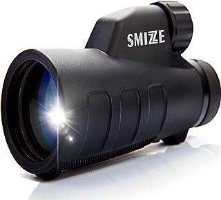 SMIZZE HD Monocular Telescope 12x50 High Definition BAK-4 FMC Glass Lens Waterproof Fogproof Shockproof One Hand Focus Durable Compact Starscope Bird-Watching Hunting Concerts Travel Wildlife Hiking