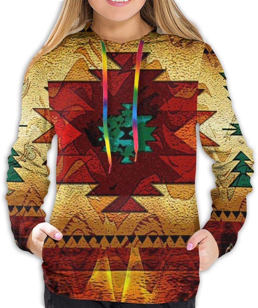 Womens Fashion Hoodie Tribal Max 65% OFF Native High quality American Print 3D Indian Red