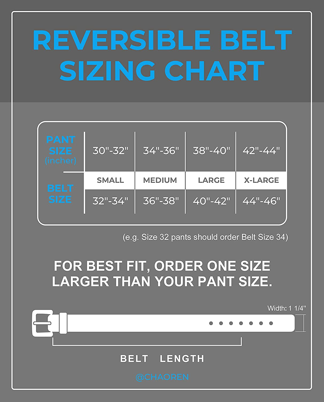 Reversible Belts for Men 1.25