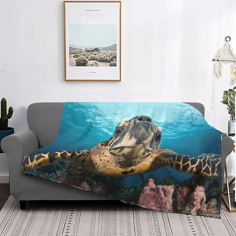 Sea Turtle Throw Rare Blankets Lightweight Camping Warm Blan Flannel Daily bargain sale