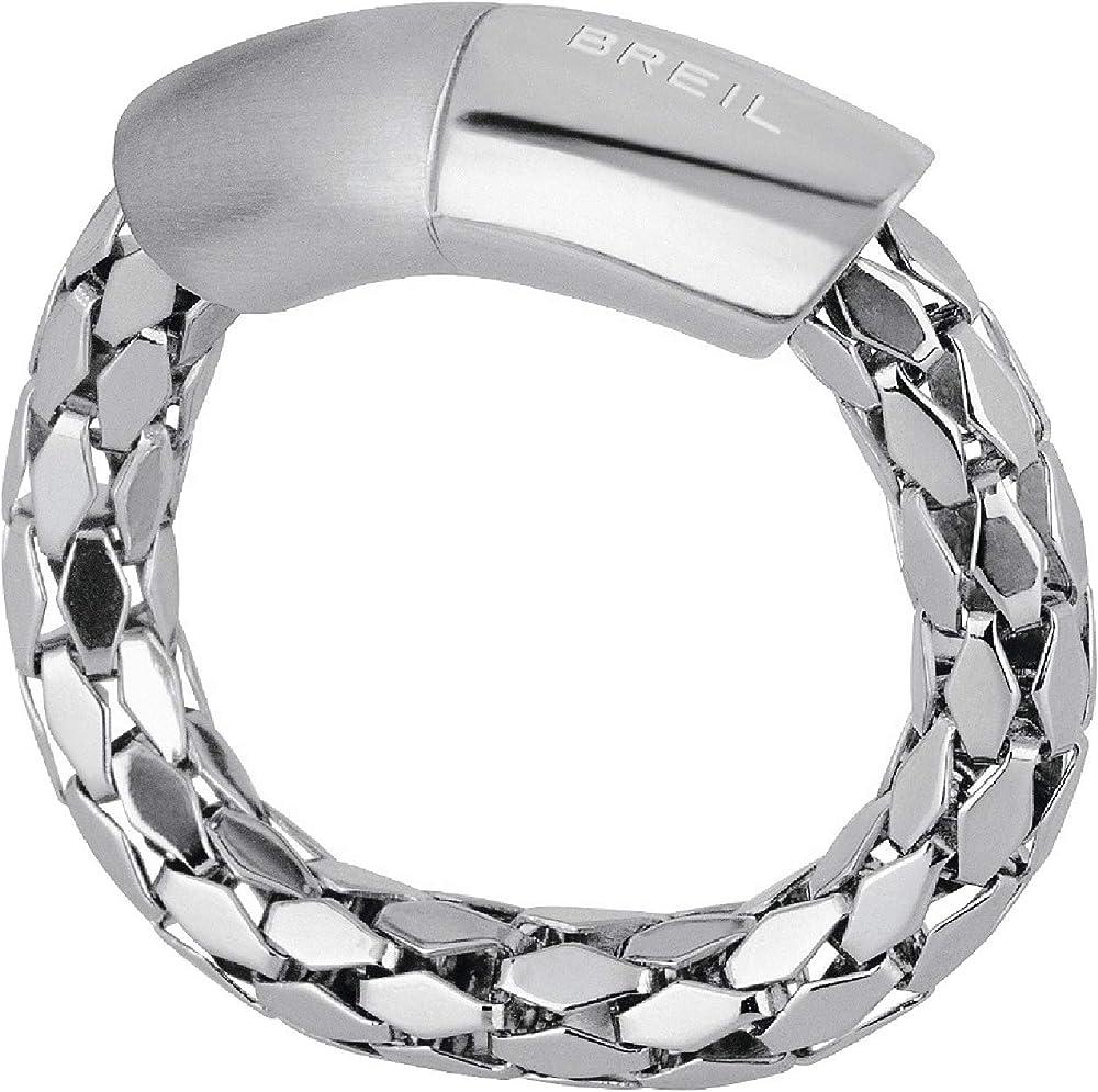 Breil anello per donna collezione light in acciaio TJ2145