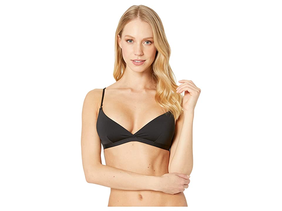 Stella McCartney Timeless Basic Triangle Bikini Top (Black) Women