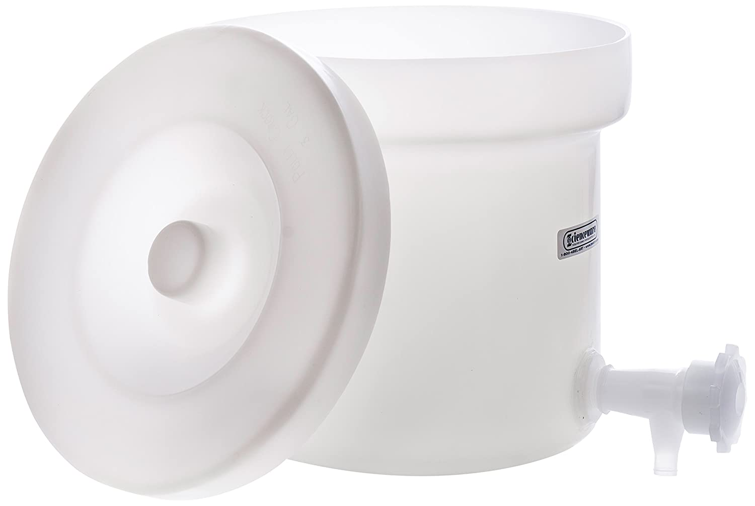 Low price SP Bel-Art Polly-Crock Polyethylene Tank Deluxe and Faucet; 3g with Lid