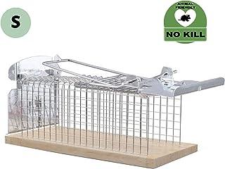 RatzFatz - Trampa para Ratones Jaula para Ratones Humana Solo para Roedores Pequeños, Sin Matar, Reutilizable, Trampa Eficaz para Uso En Interiores y Exteriores - MBS-01