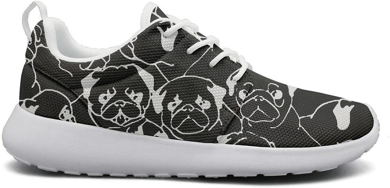 LOKIJM Woman Pug Art Tennis shoes for Women News SkidProof Running shoes