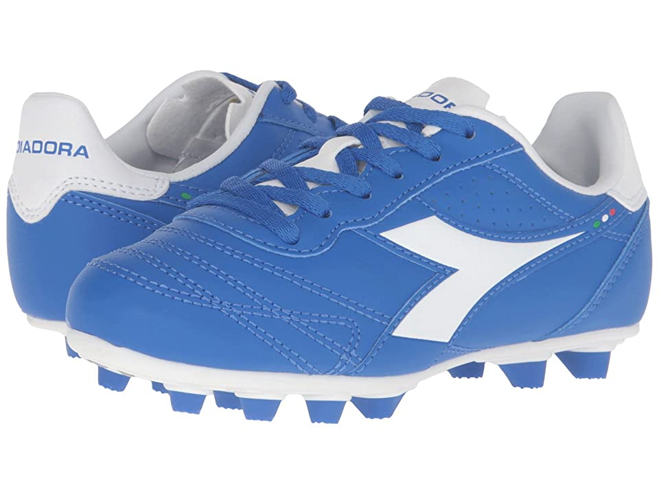 Diadora Kids Brasil R MD PU JR Soccer (Little Kid/Big Kid) (Royal/White/Matchwin) Kids Shoes