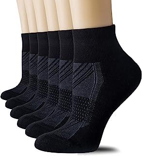 CelerSport 6 Pack Women's Ankle Socks with Cushion, Sport Athletic Running Socks
