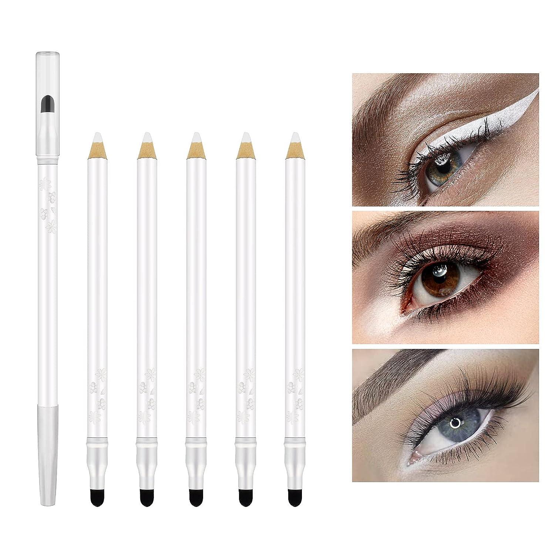 KYDA lowest price 6 Pcs White Japan's largest assortment Glitter Eyeshadow Pearl Shimmer Eye Pen Set Sh