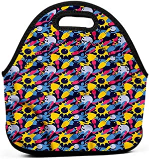 Neoprene Lunch Bag Bowling,Championship Victory,teacher lunch bag for men