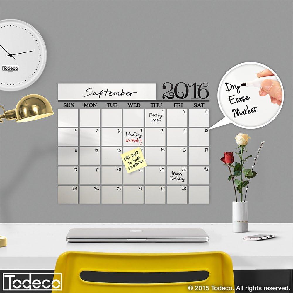 Modern 2019 Dry Erase Wall Decal Marker Calendar Finally resale start w - Regular store A