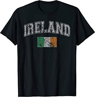 Ireland Flag Irish St Patrick's Day Vintage Fade T-Shirt