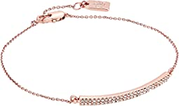 LAUREN Ralph Lauren - Minimal Metal 7.5 Inches I.D. Bar with Pave Bracelet
