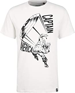 Marvel Capitán América Escudo Crudo Slub Camiseta por Re:Covered