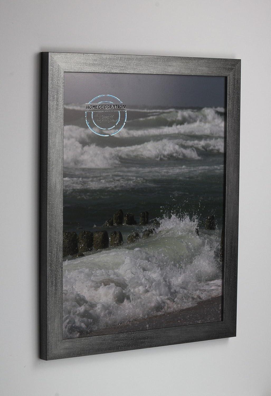 Marco Kiruna 33 x 59 cm MDF, marco estable en el estilo Bauhaus 59 x 33cm, Color seleccionado  grafito con vidrio acrílico projoector antirreflector 1mm