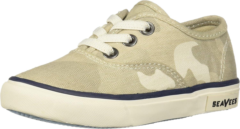 SeaVees Unisex-Baby Kids Legend Sneaker Saltwash, Cream Camouflage, 8C M US Toddler