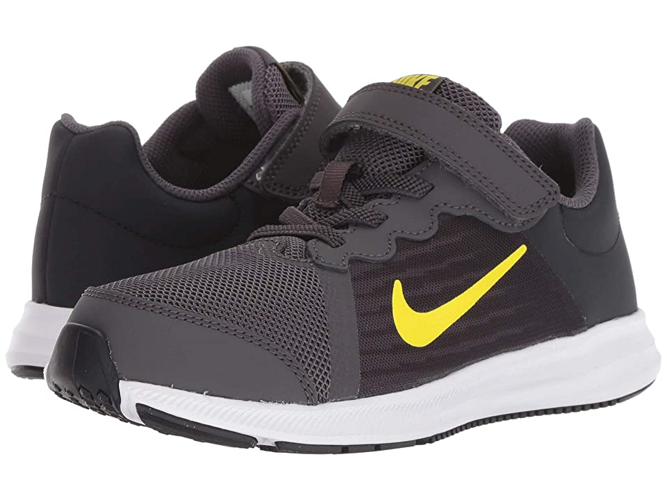 Nike Kids Downshifter 8 (Little Kid) (Thunder Grey/Dynamic Yellow/Oil Grey) Boys Shoes