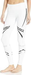 Alo Yoga Women's Airbrush Legging, White/Black Chakra, XXS