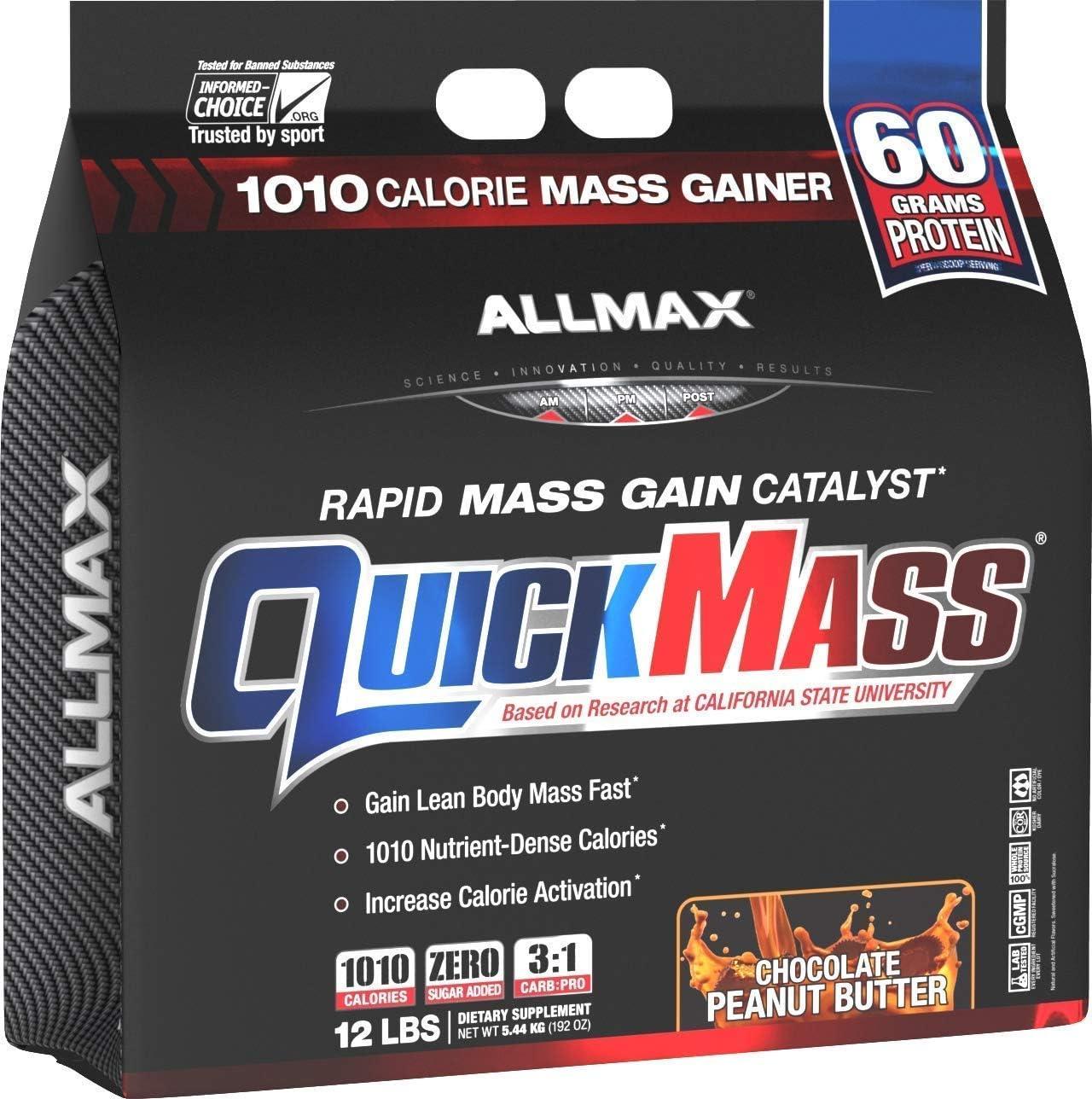 ALLMAX Alternative dealer Nutrition QuickMass Rapid Mass Gain Butt Catalyst store Peanut