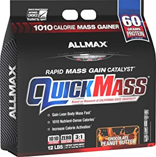 ALLMAX Nutrition QuickMass Rapid Mass Gain Catalyst, Peanut Butter Chocolate, 12 lbs