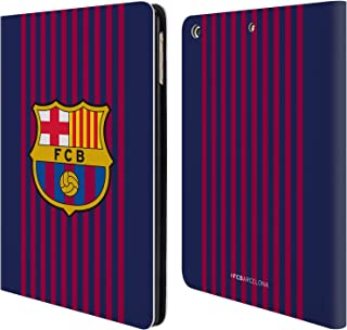 Official FC Barcelona Home 2018/19 Crest Kit Leather Book Wallet Case Cover Compatible for iPad Air (2013)