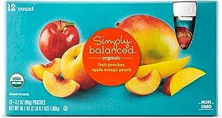 Apple Mango Peach Fruit Pouch 12ct - 3.2oz - Simply Balanced