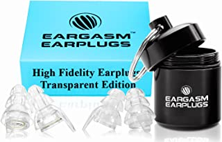 Eargasm High Fidelity Earplugs for Concerts Musicians Motorcycles Noise Sensitivity Conditions and More - Transparent Edition