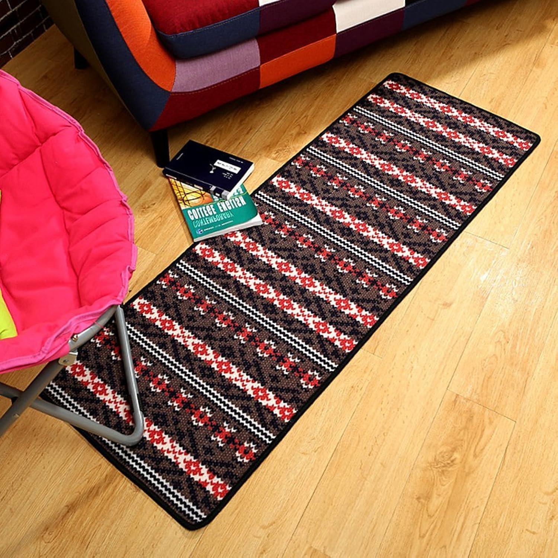 DIDIDD Floor Mat Doormat Simple Stripe Kitchen Balcony Bedroom Bed Modern Skid Pad