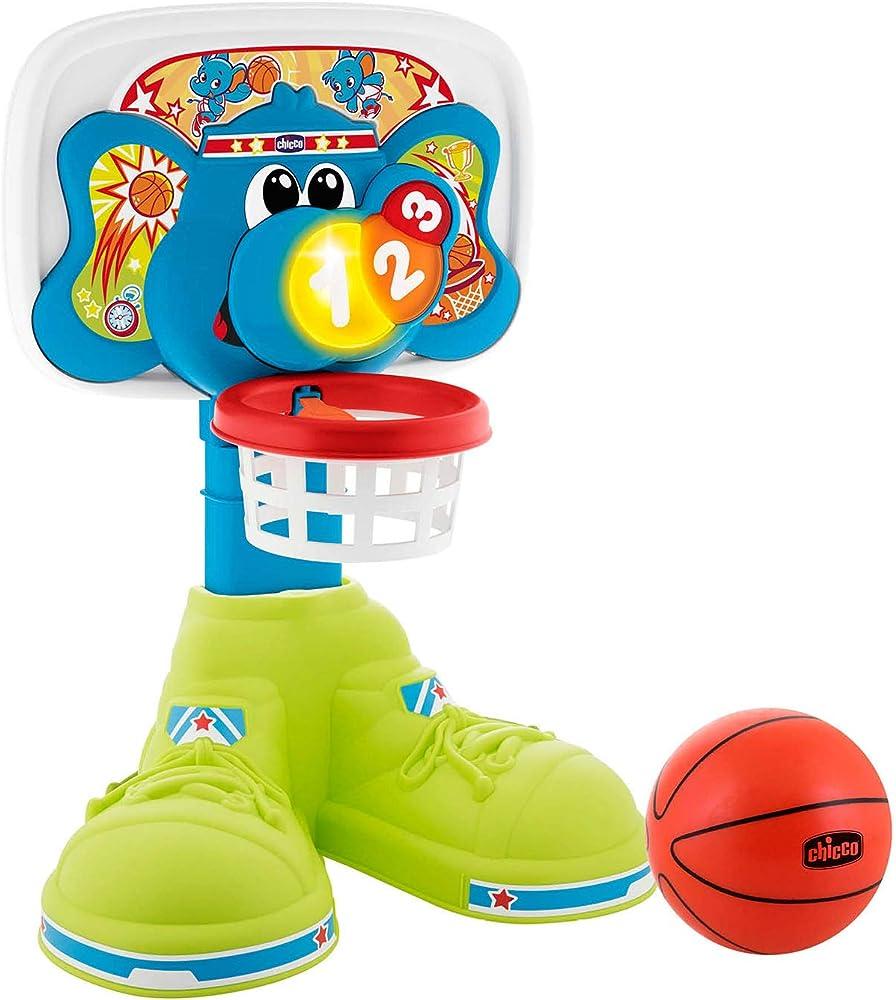 chicco fit&fun basket league canestro elettronico altezza regolabile fino a 58 cm dai 18 mesi ai 5 anni 00009343000000
