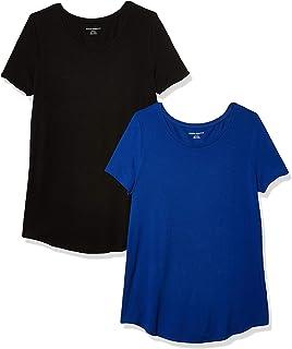 Amazon Essentials Women's 2-Pack Short-Sleeve Scoopneck Tunic