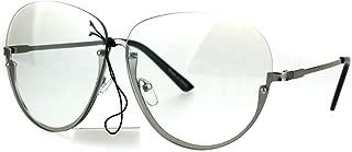 Womens Granny Style Rimless Half Rim Clear Lens Eye Glasses