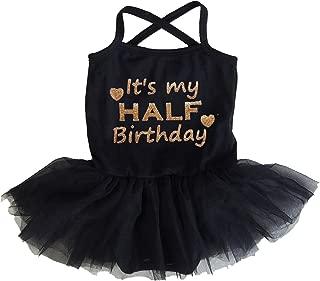 Kirei Sui Baby Girl Half Birthday Black Tulle Tutu Bodysuit Dress
