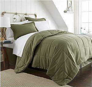 ienjoy Home Bed in a Bag, Queen, Sage, 8 Piece