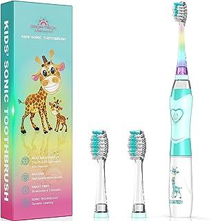 Elektrische Zahnbürste Kinder Ultraschall Batterie kinderzahnbürste mit Timer mit Schalltechnologie für Jungen und Mädchen...