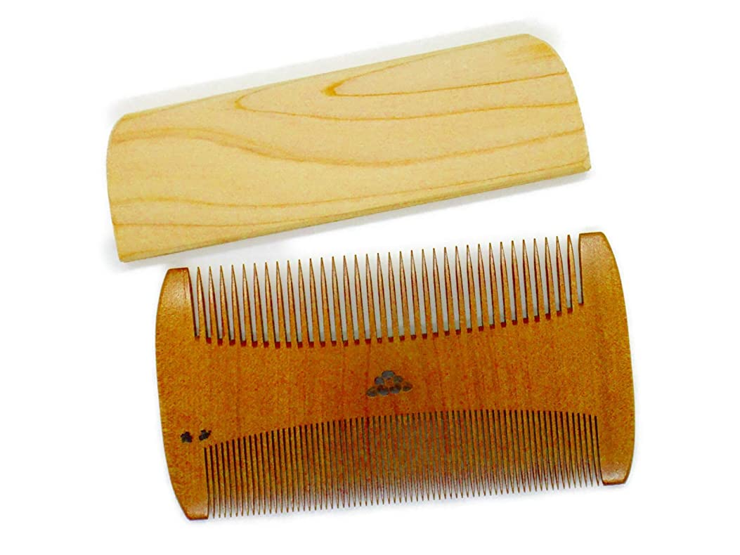 悪行バイアス用心椿櫛 すき櫛~つげ櫛職人が作りました~髪に付いたホコリを取る事に特化した櫛です。シラミ駆除対応