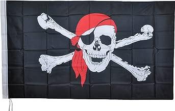 G.V vlag Caribische piraten met rode Bandana Bucan...