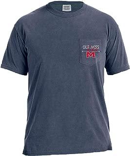 NCAA Adventures Short Sleeve Comfort Color Pocket Tee