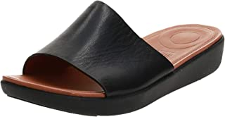 FitFlop Sola Slides - Leather womens Open Toe Sandals
