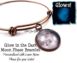 glow in the dark moon phase bracelet