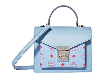 MCM Patricia Visetos Leather Block Satchel Small (Blue Bell) Wallet