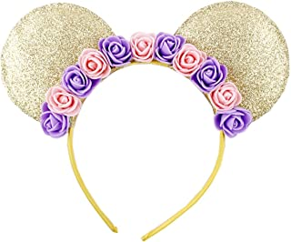 Cute Mouse Ears Headband Hoop Hair Accessories Headdress Hair Accessories for Party Festivals