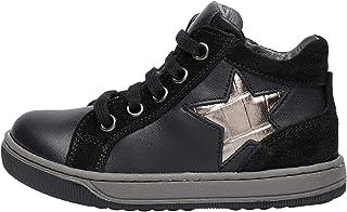 Naturino Clay Star Zip-Sneaker alla Caviglia con intarsio Stella Nero 27