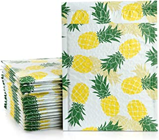 UCGOU 8.5x12 Inches Pineapple Designer Poly Bubble Mailers Padded Envelopes Boutique Custom Bags Pack of 25Pcs