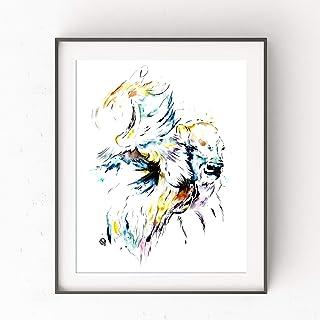 Buffalo Print by Whitehouse Art | Buffalo Artwork, Western Art, Nursery Decor | Professional Art Print of Bison Original Painting | Baby Shower Gifts | 6 Sizes
