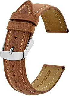 BISONSTRAP Bracelet de Montre, Bracelet de Remplacement en Cuir Vintage, Largeur de Bande-14mm 15mm 16mm 17mm 18mm 19mm 20...
