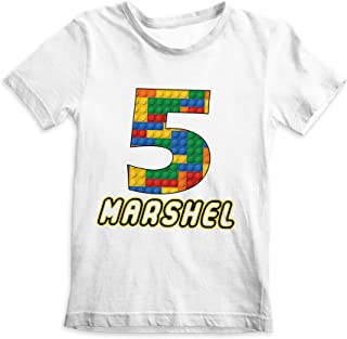 Building Blocks Shirt, Custom Birthday Shirt, Custom Party Shirt, Building Blocks, Kids Birthday Shirt, Blocks Shirt, Custom Print Shirt, Printed Cotton Shirt, Durable Personalized Shirt, Shirt Supply