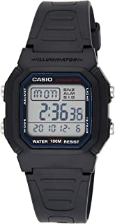 Casio Men's Grey Dial Resin Digital Watch - W-800H-1AVDF