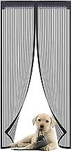 Versterkte magnetische hordeur - vele maten die precies bij uw deur passen - met volledig frame klittenband om ervoor te z...