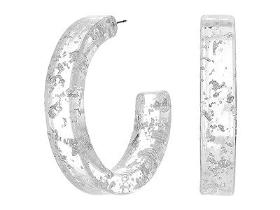8 Other Reasons Midnight Hoops Earrings (Silver) Earring