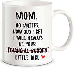 Funny Mom Gifts Mom I Will Always Be Your Financial Burden Christmas Birthday Funny Novelty Prank Joke Gifts for Moms from Daughter World's Best Mom Ever Ceramic Coffee Mug Tea Cup